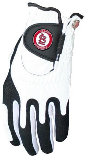Zero Friction MLB St. Louis Cardinals White Golf Glove, Left Hand