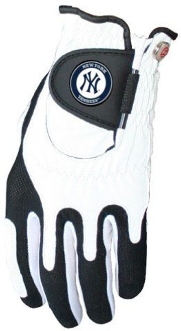 Zero Friction MLB New York Yankees White Golf Glove, Left Hand