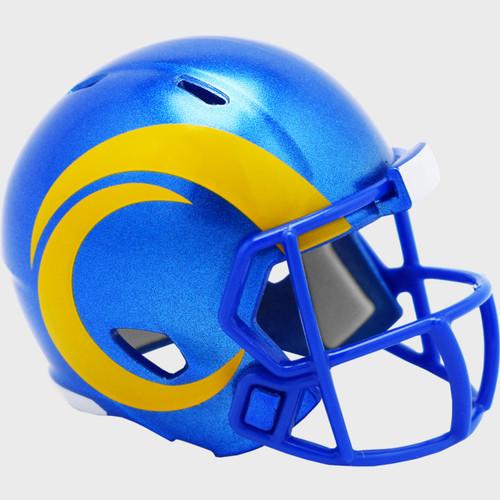 Los Angeles Rams 2020 Logo Riddell Mini Revolution Speed Pocket Pro Football Helmet