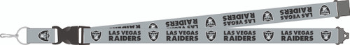 Las Vegas Raiders New Logo Gray Team Detachable Lanyard