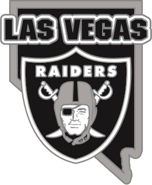 Las Vegas Raiders In Home State of Nevada NFL Lapel Pin
