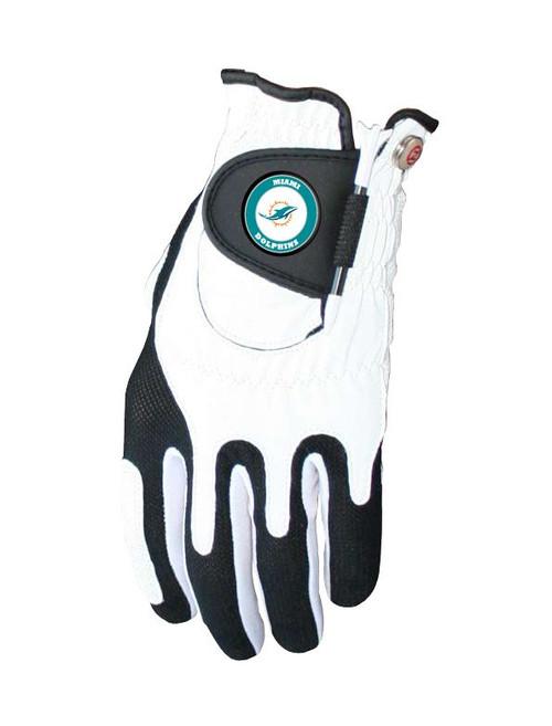 Zero Friction NFL Miami Dolphins White Golf Glove, Left Hand