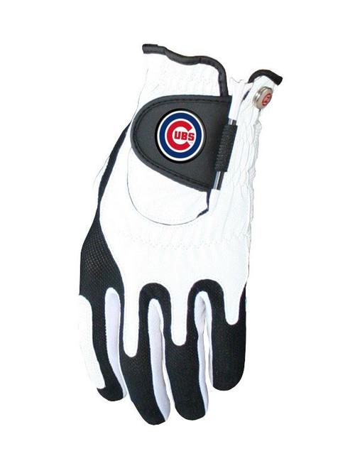 Zero Friction MLB Chicago Cubs White Golf Glove, Left Hand