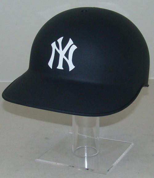 New York Yankees Matte Navy Blue No Ear Covered Full Size Baseball Batting Helmet