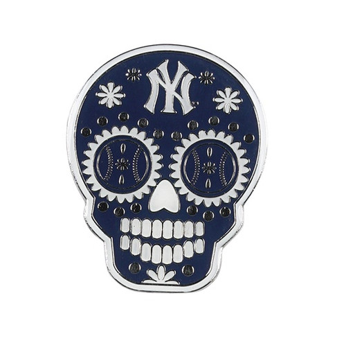 New York Yankees MLB Sugar Skull Day of the Dead Lapel Pin