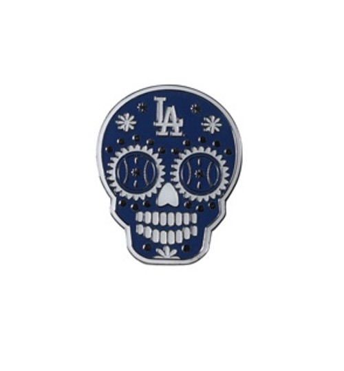 Los Angeles Dodgers MLB Sugar Skull Day of the Dead Lapel Pin