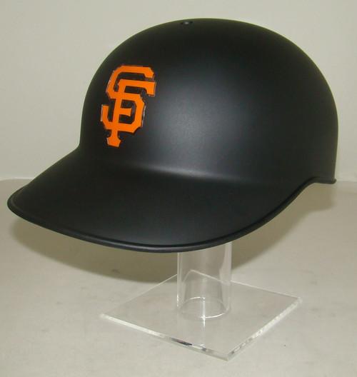 San Francisco Giants Matte Black No Ear Covered NEC Full Size Baseball Batting Helmet