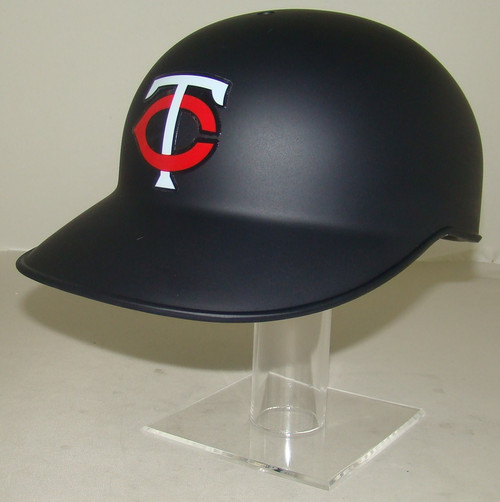 Minnesota Twins Matte Navy Blue No Ear Covered NEC Full Size Baseball Batting Helmet