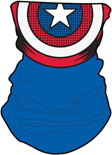 Marvel Captain America Neck Gaiter Scarf Face Guard Mask Head Covering