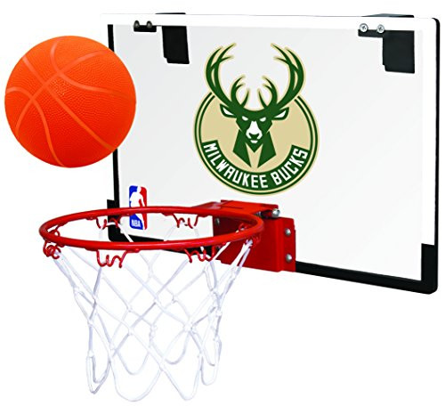 Milwaukee Bucks NBA Game On Polycarbonate Mini Basketball Indoor Hoop Set