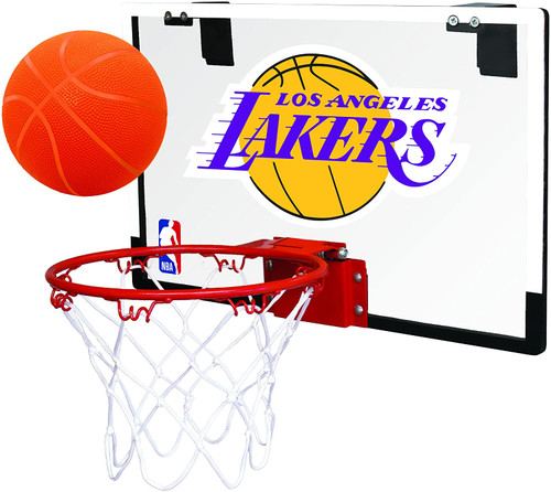 Los Angeles Lakers NBA Game On Slam Jam Polycarbonate Mini Basketball Indoor Hoop Set