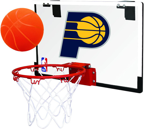 Indiana Pacers NBA Game On Slam Jam Polycarbonate Mini Basketball Indoor Hoop Set