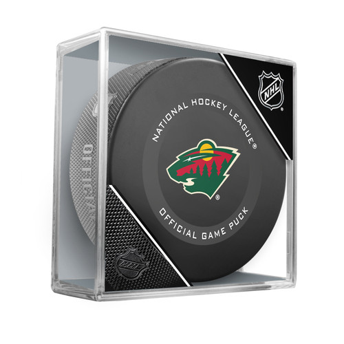 Minnesota Wild Inglasco Official NHL Hockey Game Puck in Cube