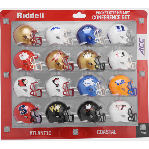 2020 NCAA ACC Conference Pocket Pro Speed Revolution Mini Helmets Set by Riddell