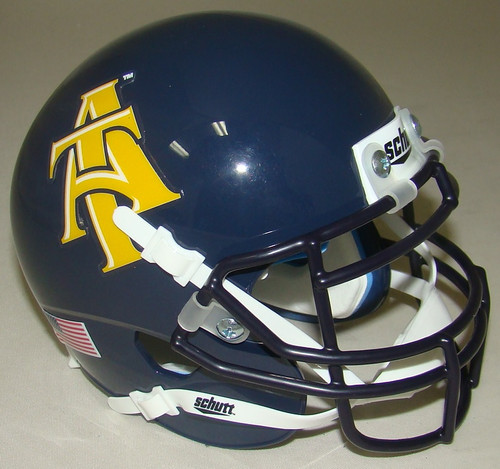 North Carolina A&T Aggies NCAA Schutt Mini Authentic Football Helmet