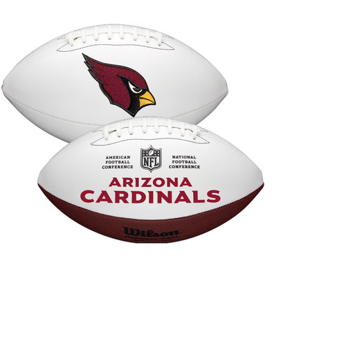 Arizona Cardinals Full Size Official NFL Autograph Signature Series White Panel Football by Wilson