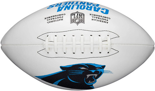 Carolina Panthers Full Size Official NFL Autograph Signature Series White Panel Football by Wilson
