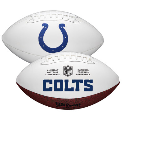 Indianapolis Colts Full Size Official NFL Autograph Signature Series White Panel Football by Wilson