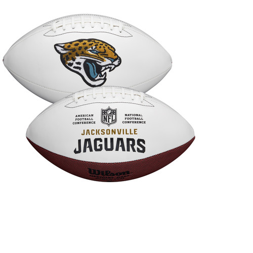 Jacksonville Jaguars Full Size Official NFL Autograph Signature Series White Panel Football by Wilson