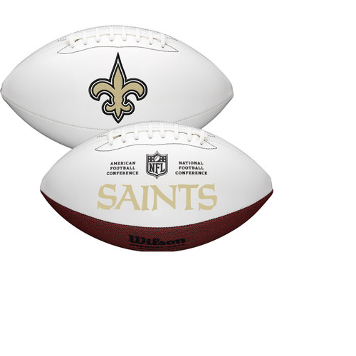 New Orleans Saints Full Size Official NFL Autograph Signature Series White Panel Football by Wilson