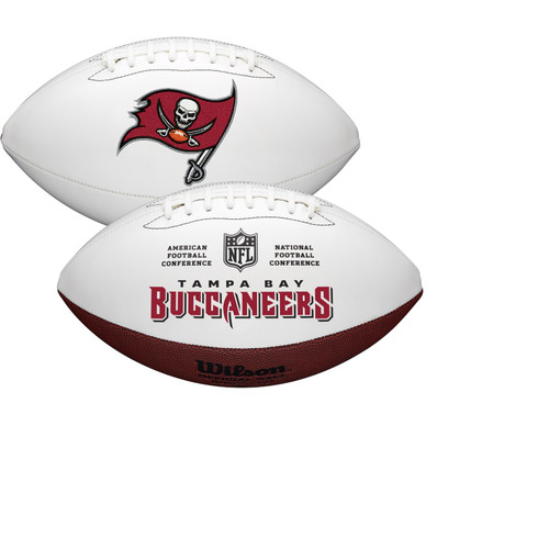 Tampa Bay Buccaneers Full Size Official NFL Autograph Signature Series White Panel Football by Wilson