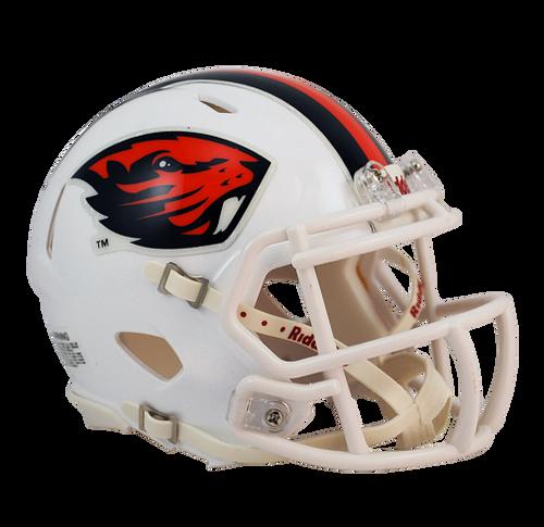 Oregon State Beavers White NCAA Revolution SPEED Mini Helmet