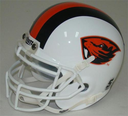 Oregon State Beavers White Schutt Mini Authentic Helmet