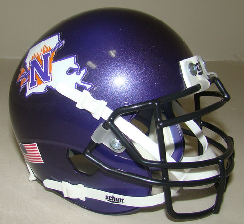 Northwestern State Louisiana Demons Schutt Mini Authentic Football Helmet
