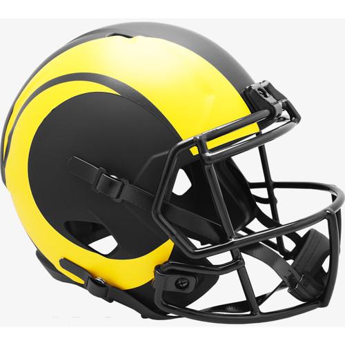 Los Angeles Rams 2020 Black Speed Replica Full Size Football Helmet