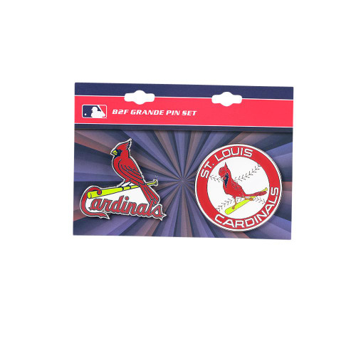 "St. Louis Cardinals MLB Jumbo Grande 2"" Lapel Pin Set of 2 (Current and Retro Logos)"