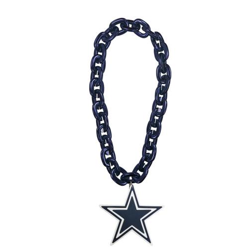 Dallas Cowboys NFL Touchdown Fan Chain 10 Inch 3D Foam Magnet Necklace Navy