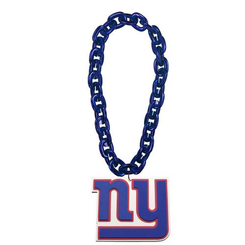 New York Giants NFL Touchdown Fan Chain 10 Inch 3D Foam Magnet Necklace Blue