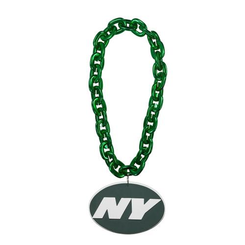 New York Jets NFL Touchdown Fan Chain 10 Inch 3D Foam Magnet Necklace Green