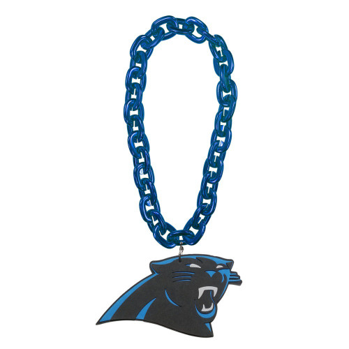 Carolina Panthers NFL Touchdown Fan Chain 10 Inch 3D Foam Magnet Necklace - Turquoise