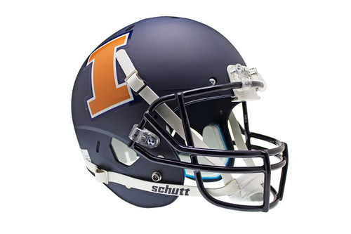 Illinois Fighting Illini Schutt Alternate Matte Navy Full Size Replica XP Replica Helmet