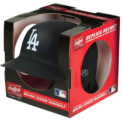 Los Angeles Dodgers Matte Black MLB Rawlings Replica MLB Baseball Mini Helmet