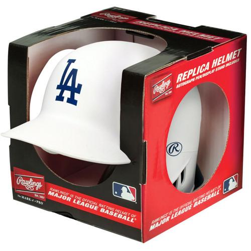 Los Angeles Dodgers Matte White MLB Rawlings Replica MLB Baseball Mini Helmet