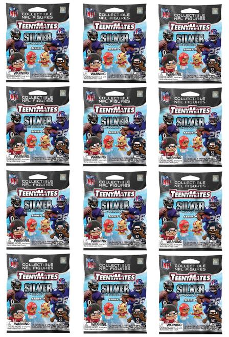 Party Animal NFL TeenyMates SERIES 9 SILVER SERIES Figurines Mystery Packs (12 Packs)