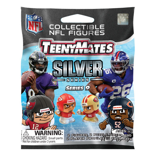 Party Animal NFL TeenyMates SERIES 9 SILVER SERIES Figurines Mystery Pack