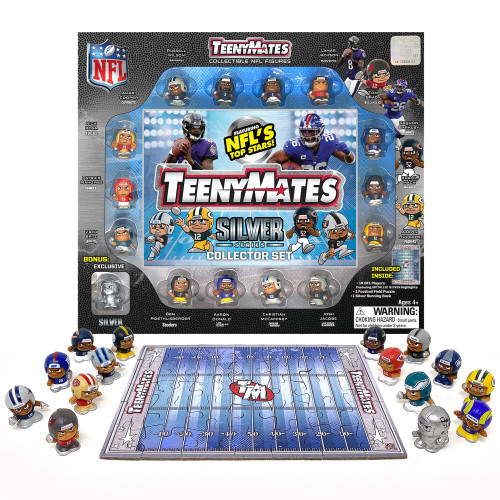 NFL Teenymates Player Figure 2020 Silver Series 9 Collector Gift Set