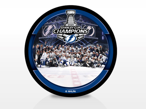 2020 NHL Stanley Cup Champions Tampa Bay Lightning Team Image Celebration Photo Picture Souvenir Puck