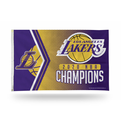 NBA Los Angeles Lakers 2020 Basketball Champions 3 x 5 Foot Single Sided Banner Flag with Grommets