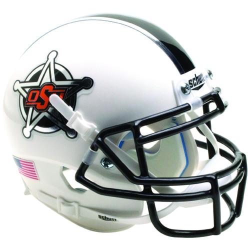 Oklahoma State Cowboys White Badge Schutt Mini Authentic Football Helmet