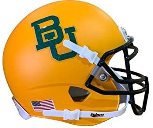 Baylor Bears Matte Gold Alternate Schutt Mini Authentic Football Helmet