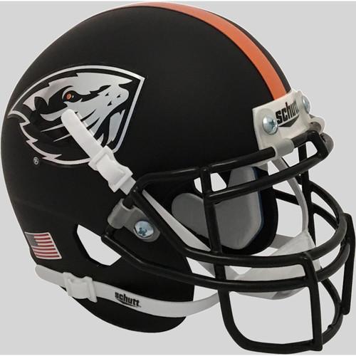 Oregon State Beavers Matte Black Schutt Mini Authentic Football Helmet