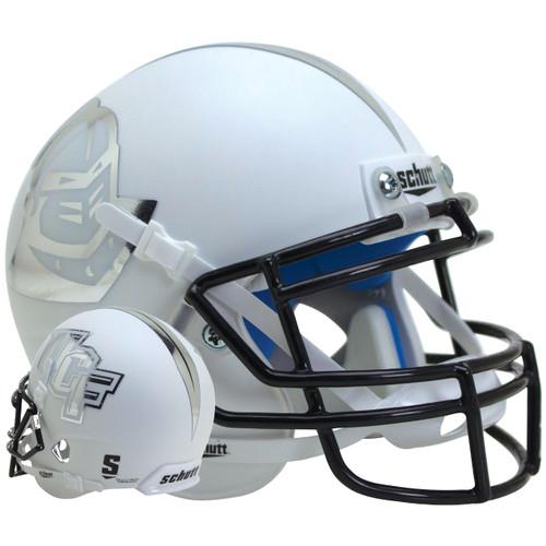 Central Florida UCF Knights Alternate White with Stripe Schutt Mini Authentic Football Helmet