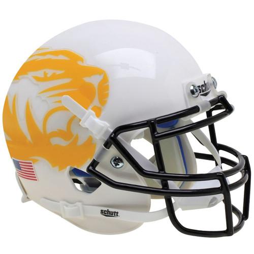 Missouri Tigers Alternate White Yellow Tiger Schutt Mini Authentic Football Helmet