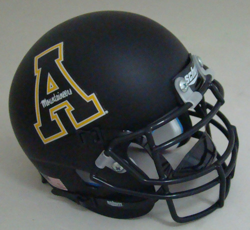 Appalachian State Mountaineers Schutt Mini Authentic Football Helmet Black A