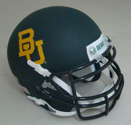 Baylor Bears Matte Green Alternate Schutt Mini Authentic Football Helmet
