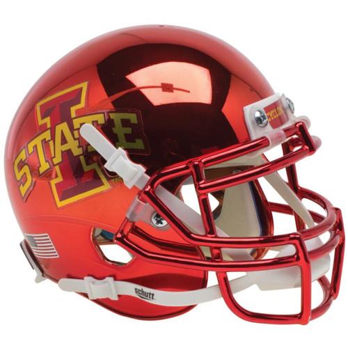 Iowa State Cyclones Red Chrome Schutt Authentic Mini Football Helmet
